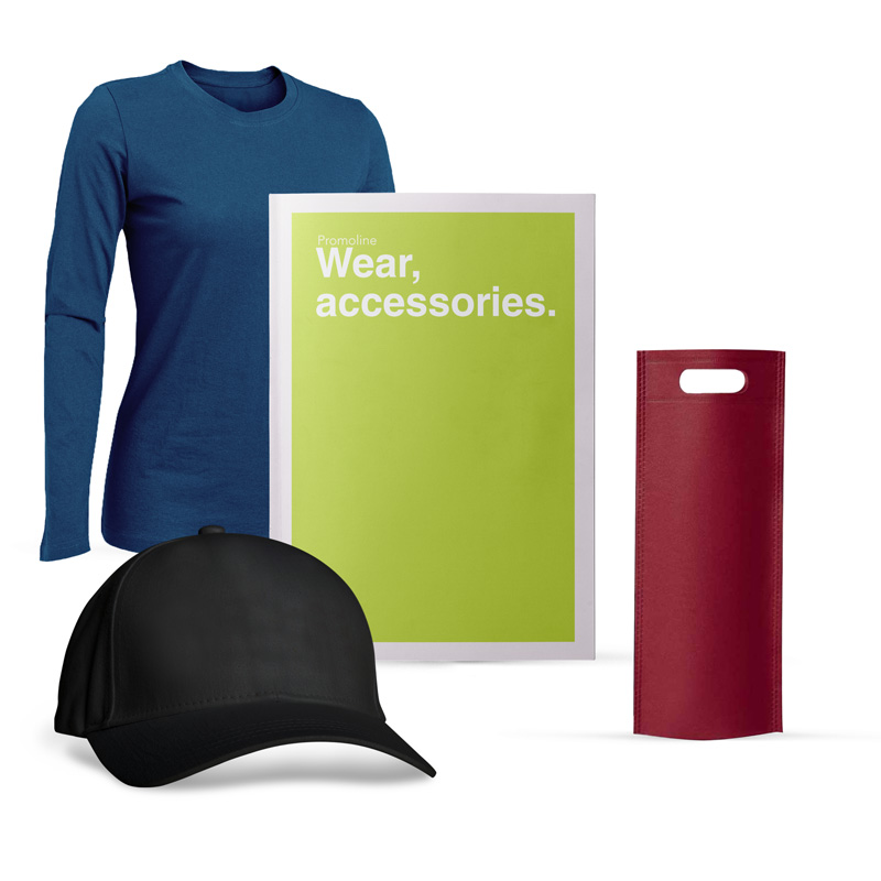 Cappellino, t-shirt, giacca, piumino, pantaloni, berretto personalizzati
