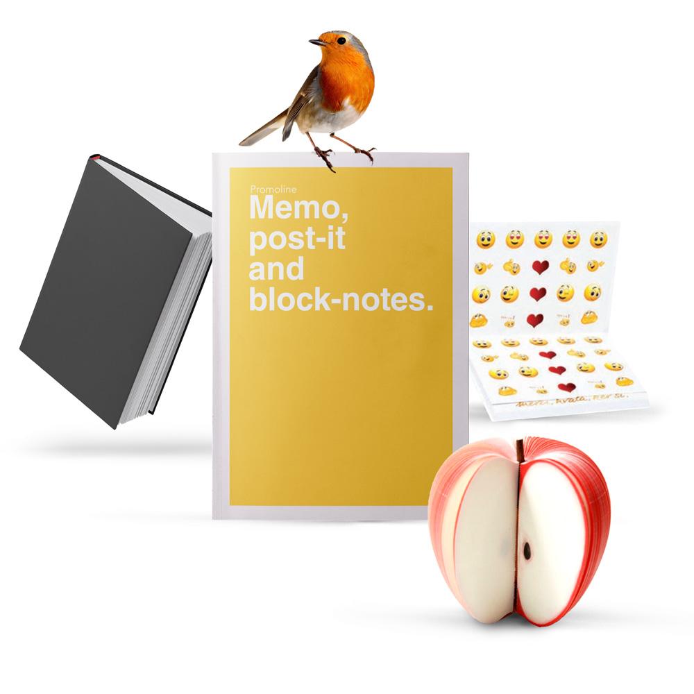 Gadget personalizzabili, post-it, taccuino, blocco note, sticker, magneti, segnalibro